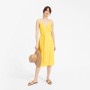everlane wrap dress